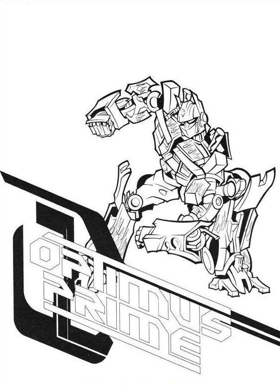 58 disegni transformers da colorare