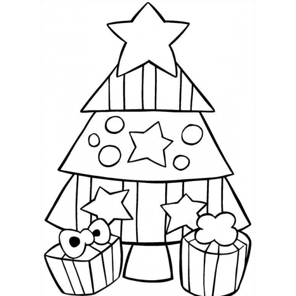 Albero Di Natale Da Colorare.23 Disegni Albero Di Natale Da Colorare