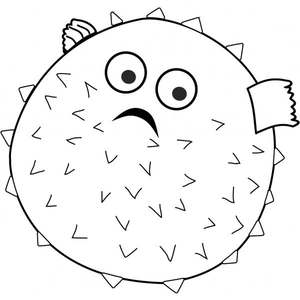 Disegno Pallone Da Colorare.6 Disegni Pesce Palla Da Colorare Per Bambini