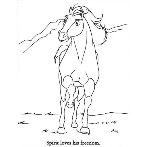 Disegni Da Colorare Di Cavalli Selvaggi.14 Disegni Spirit Cavallo Selvaggio Da Colorare