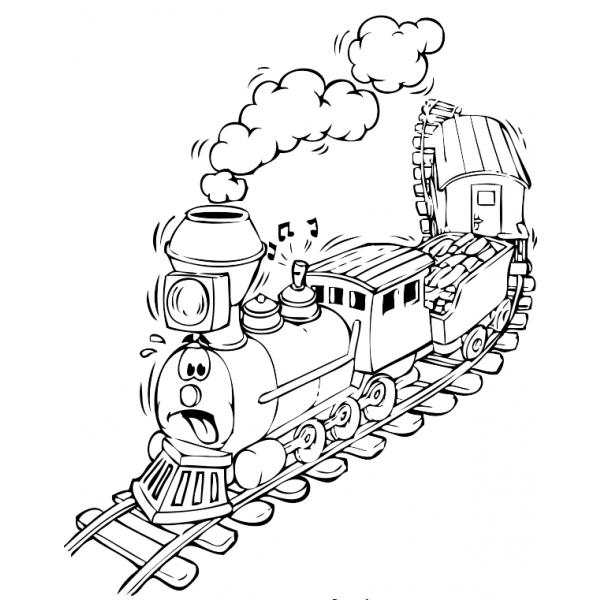 30 Disegni Di Treni Da Colorare Per Bambini