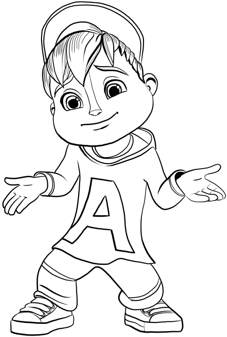 Disegni alvin superstar and the chipmunks da colorare