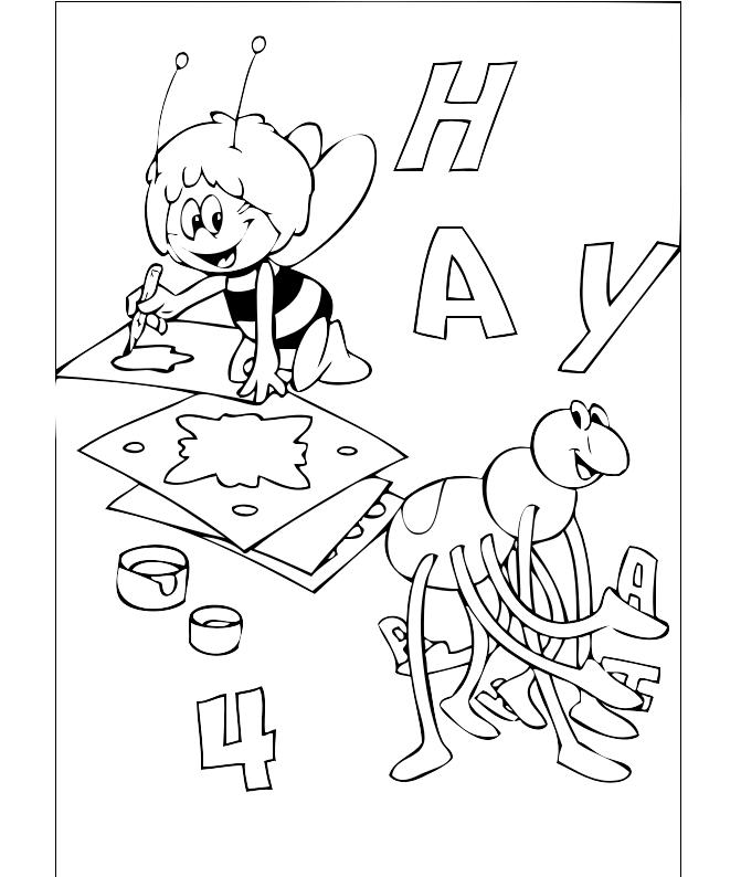 Disegni ape maia da colorare e stampare