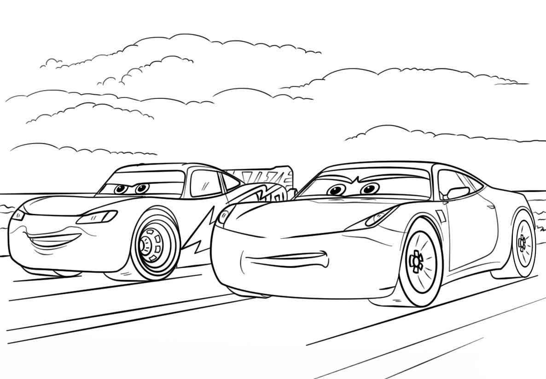 84 disegni cars da colorare e stampare per bambini - Profili auto per colorare ...