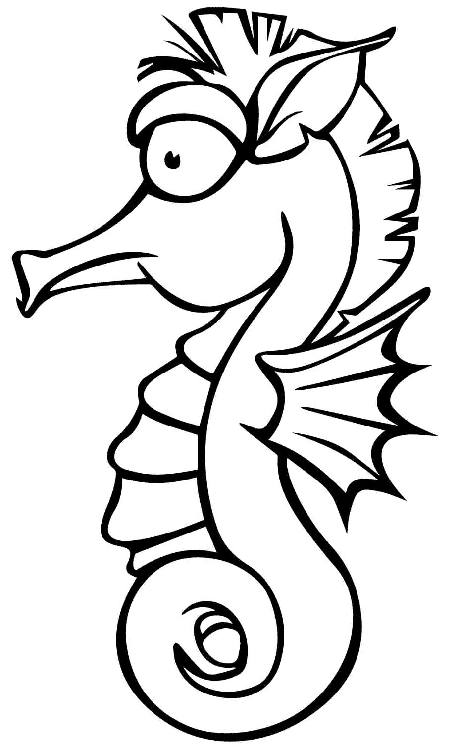 13 disegni cavalluccio marino da colorare per bambini for Cavalluccio marino disegno