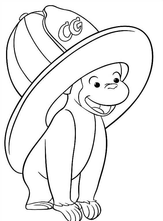 Disegni curioso come george da colorare