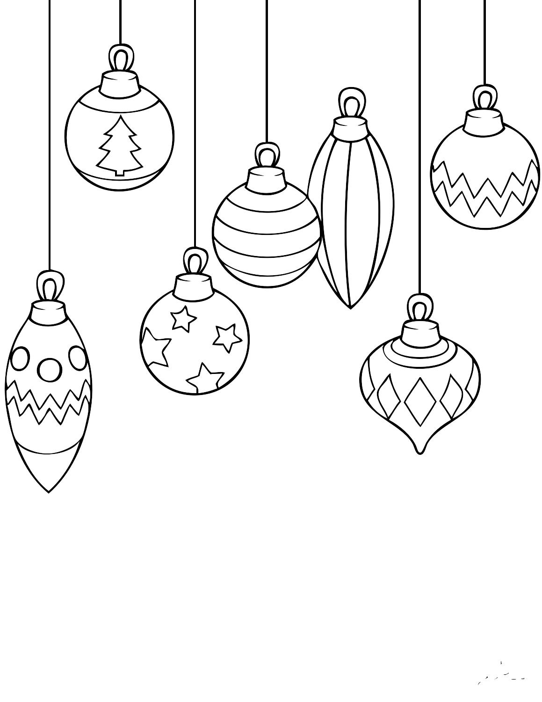 картинка игрушка на елку черно белая данном