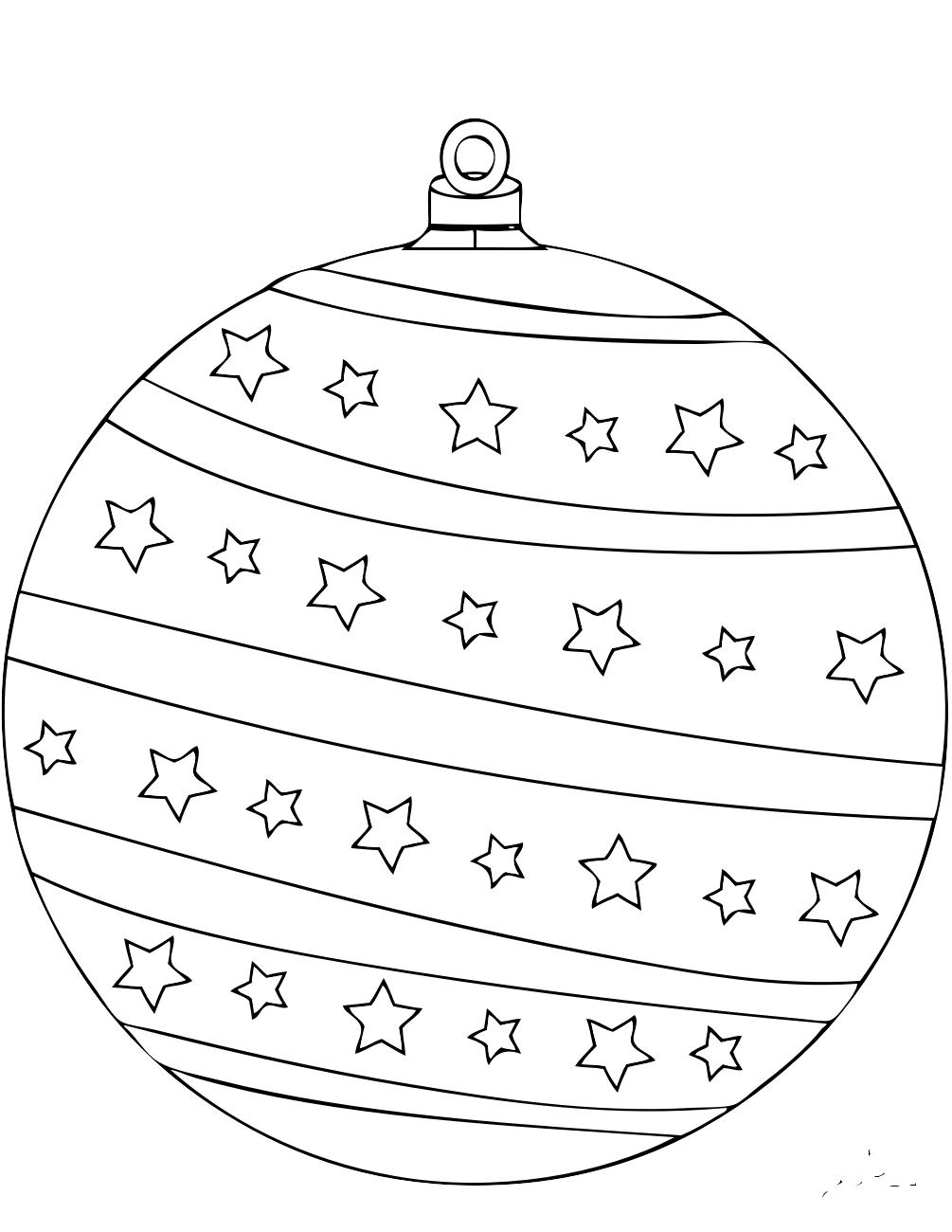 шарики на елку картинки раскраски второе место собственном