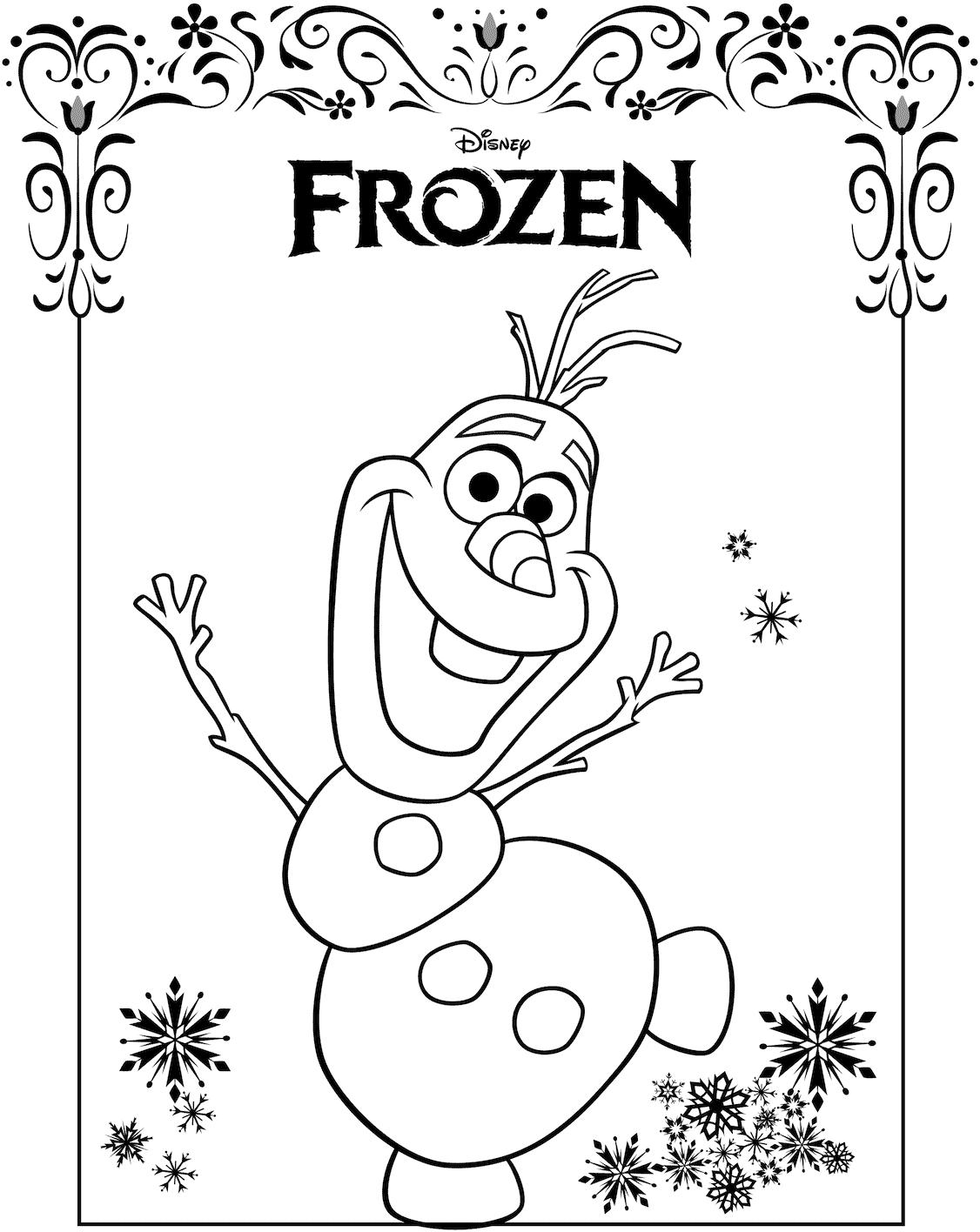 Disegni frozen da colorare e stampare