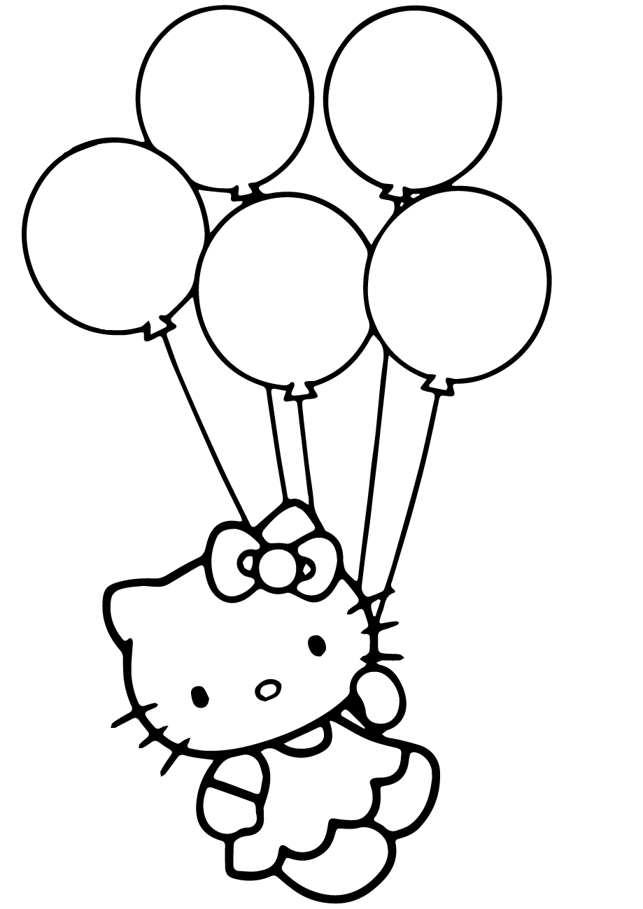 free birthday balloon coloring pages - photo#31