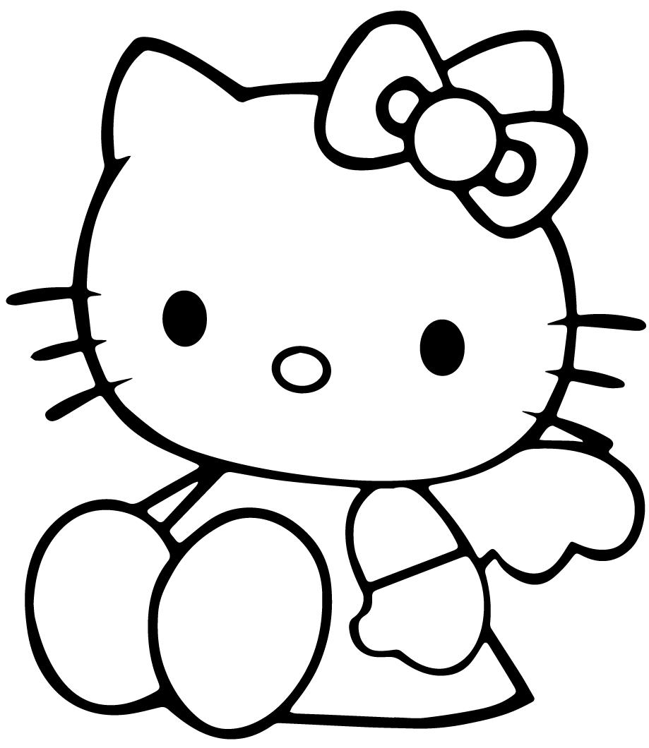 Disegni hello kitty da colorare per bambine