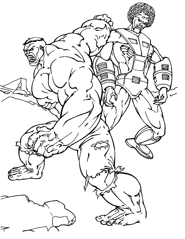 25 Disegni Hulk Da Colorare Per Bambini