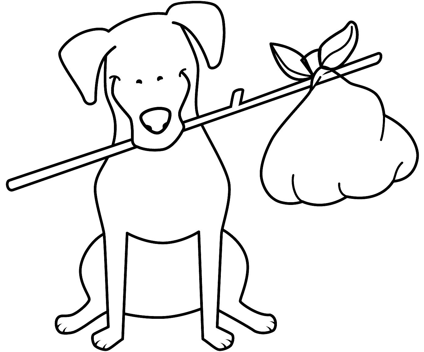 Disegni cani simpatici e divertenti da colorare