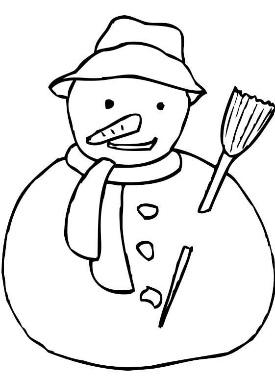 15 Disegni Pupazzo Di Neve Da Colorare
