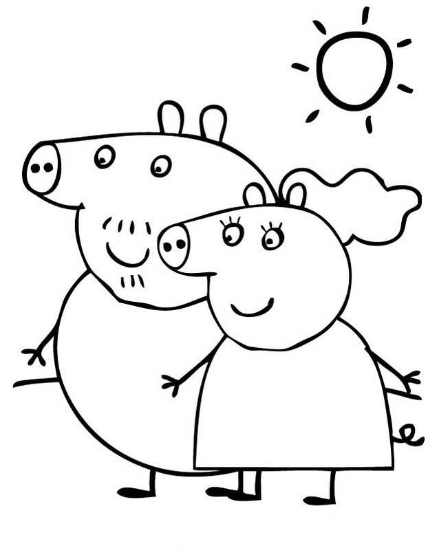 38 Disegni Peppa Pig Da Colorare E Stampare