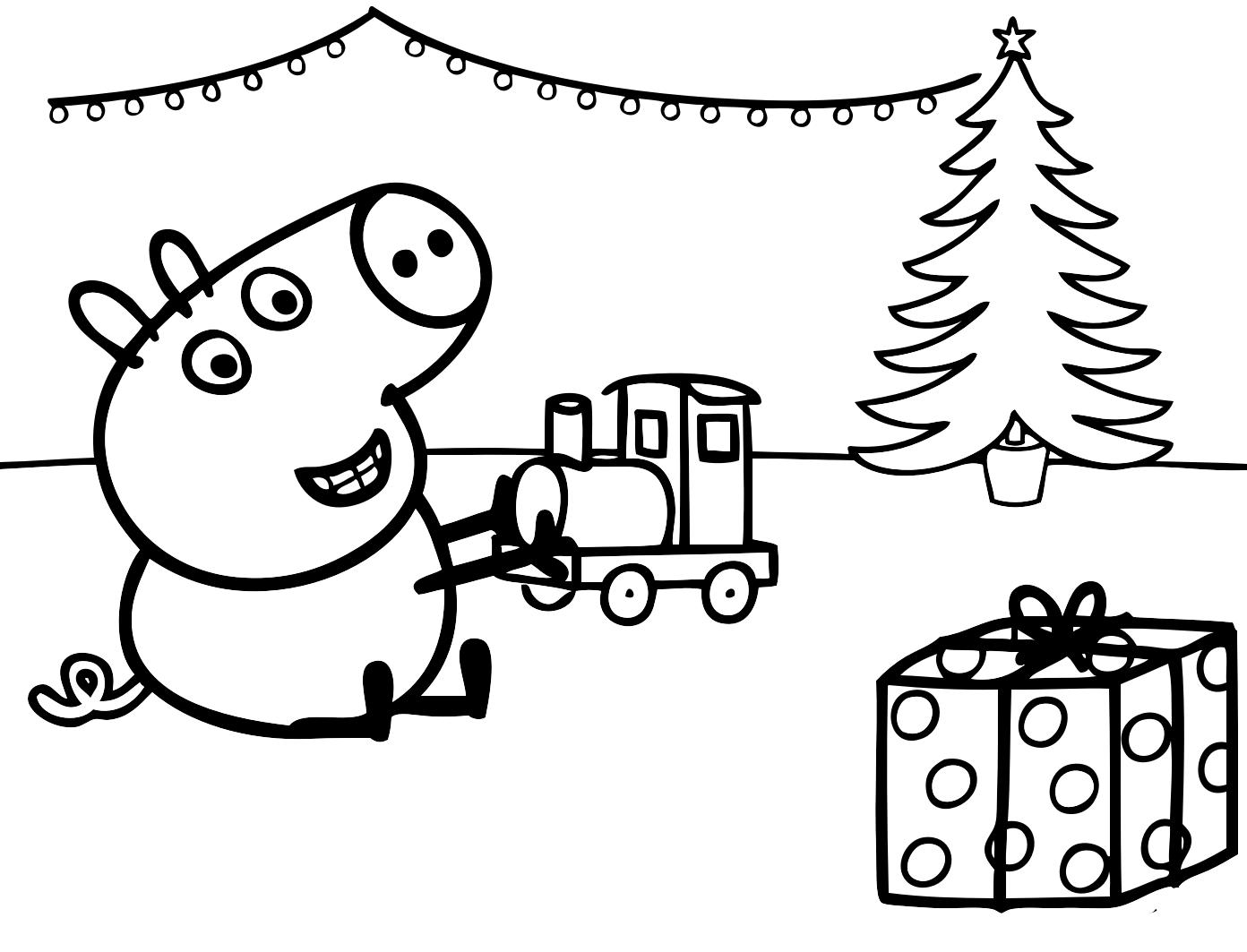 Peppa Pig Babbo Natale Da Colorare.38 Disegni Peppa Pig Da Colorare E Stampare