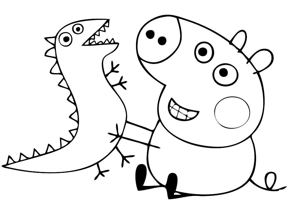 38 disegni peppa pig da colorare e stampare for Maschere di peppa pig da colorare