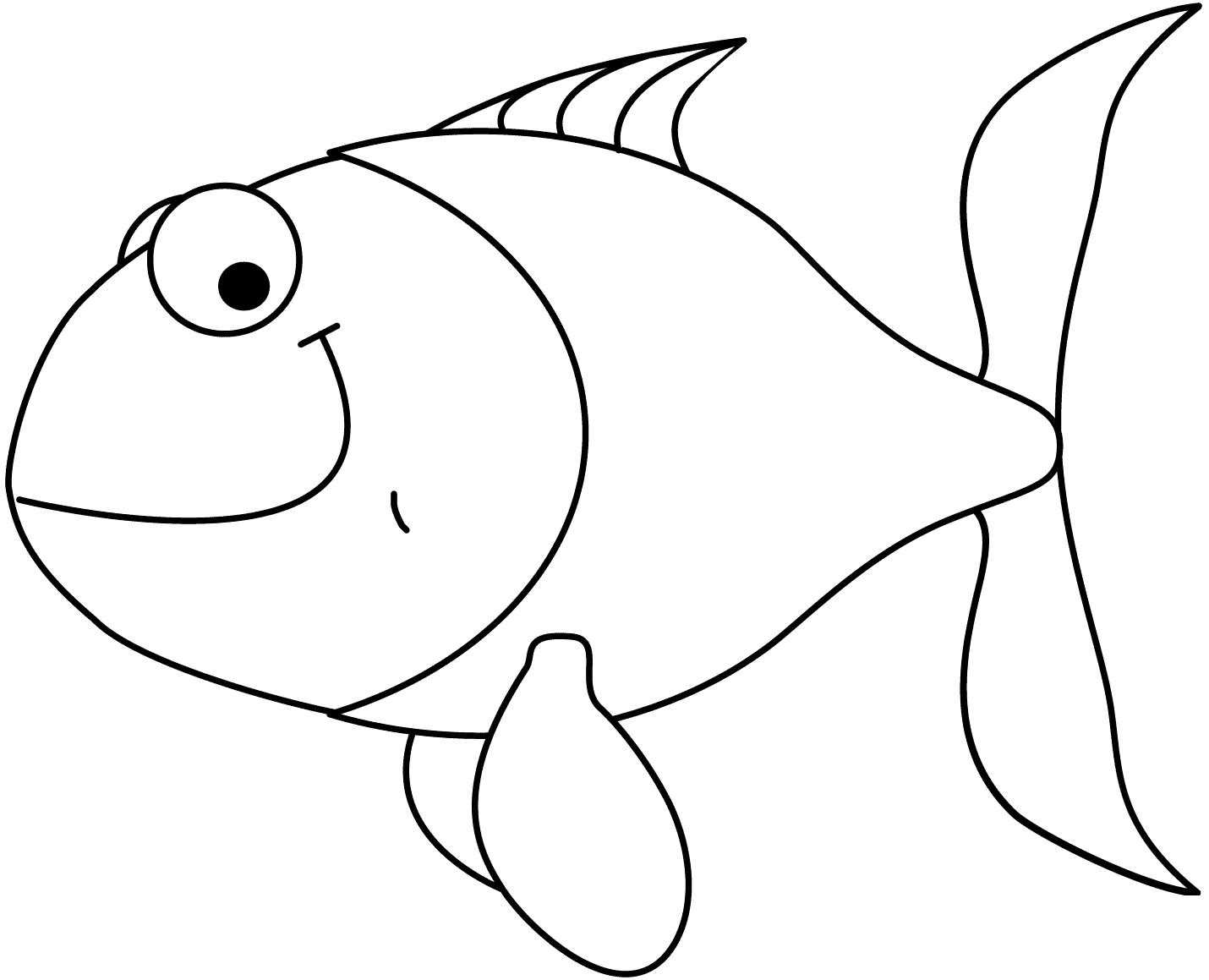 11 disegni pesci rossi da colorare per bambini for Disegni di pesci da stampare