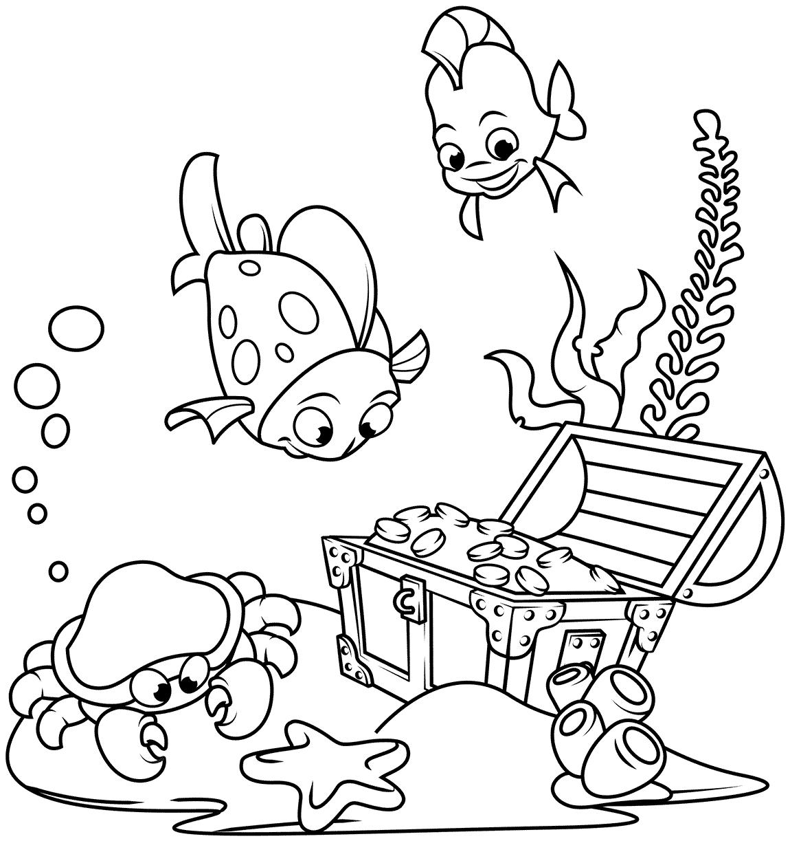 24 disegni pesciolini da colorare for Disegni da colorare pesciolini