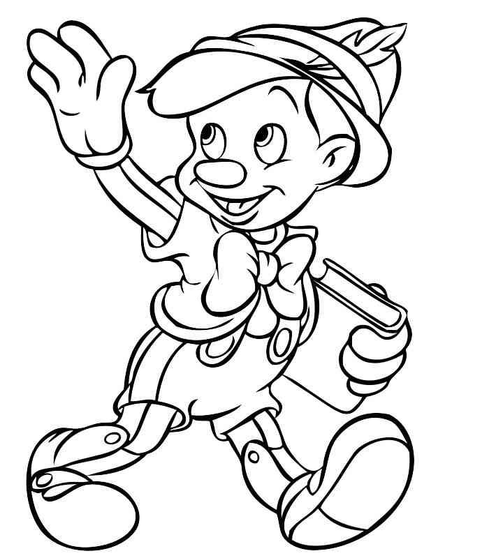 35 Disegni Pinocchio Da Colorare