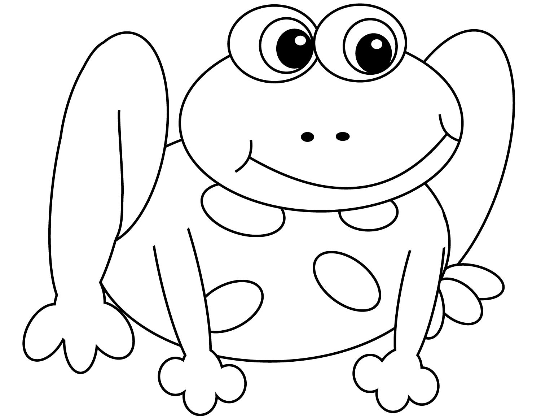 Лягушка картинка раскраска для детей