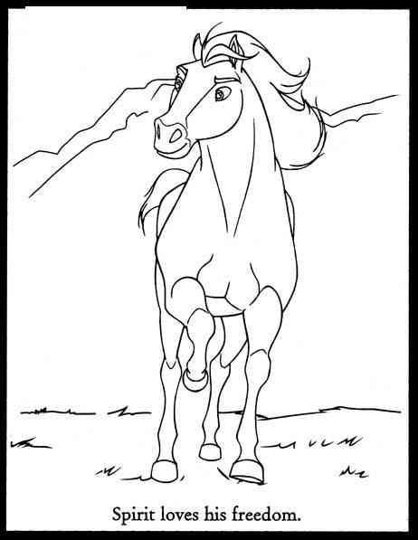 14 Disegni Spirit Cavallo Selvaggio Da Colorare