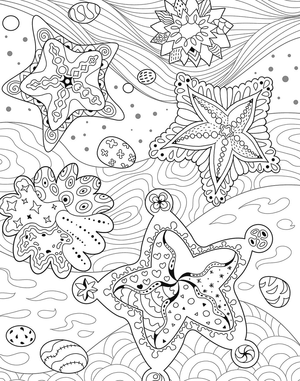 Stelle Marine Da Colorare.11 Disegni Stella Marina Da Colorare Per Bambini