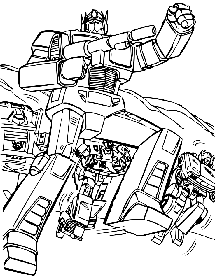 Disegni Da Colorare E Stampare Gratis Transformers.58 Disegni Transformers Da Colorare