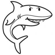 10 disegni squalo bianco da colorare for Squalo da colorare per bambini